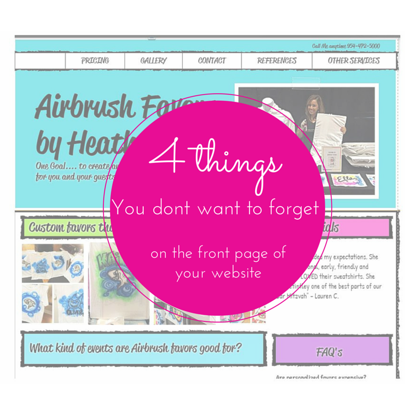 4 Things you MUST hav eon the front page of your website (5)