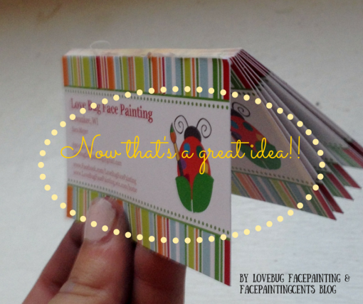 How to make a stack of business cards by Sara Meyer
