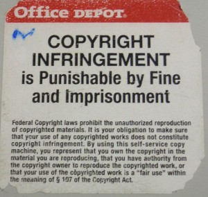 You have probably seen this warning when you try to make copies