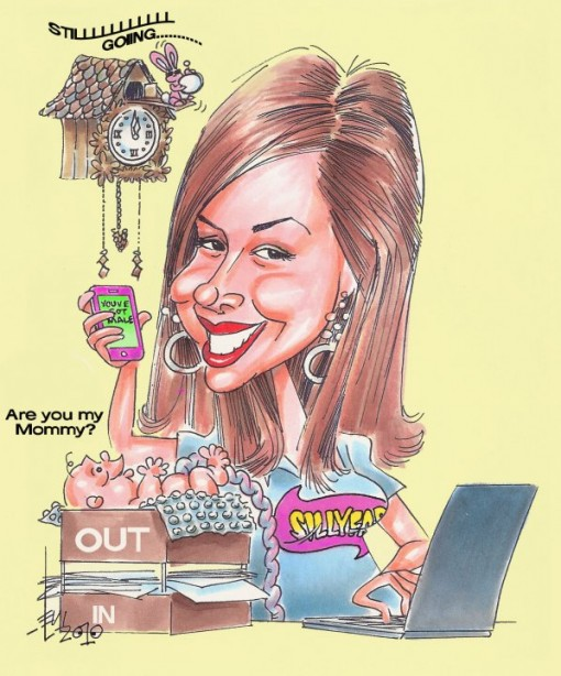 This amazing caricature was done for me by the super talented late David Levi