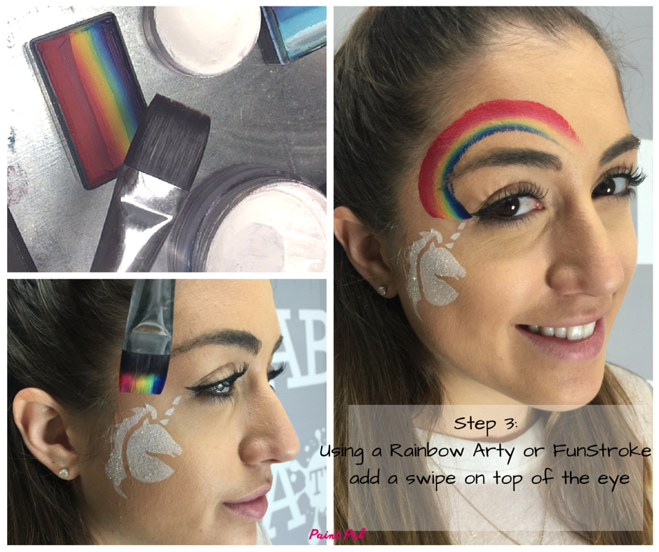 Step 3- Using a Rainbow Arty or FunStroke add a swipe on top of the eye