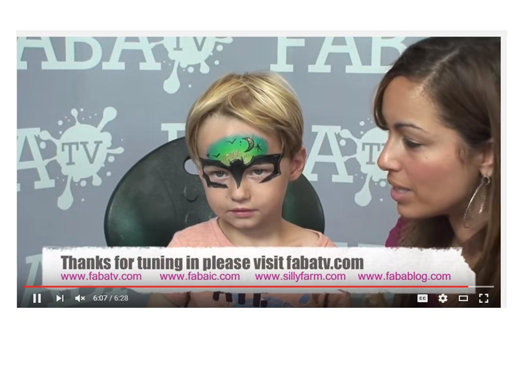 Many moons ago I made a video for a Dark Knight face painting design. The little boy still asks me to paint it.