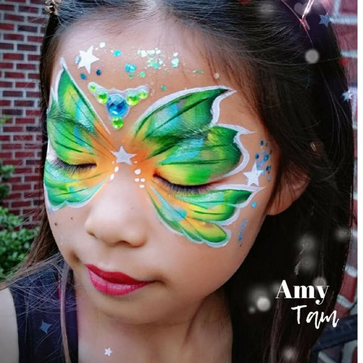 Green never looked os good! Amy Tam is butterfly magic!