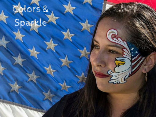 Colors and Sparkle rocked this awesome eagle flag design. TOTAL inspiration