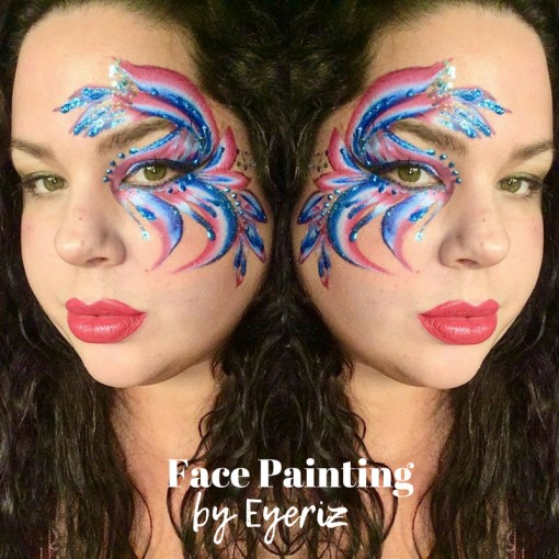 Eye Candy Patriotic style by Face Painting by Eyeriz