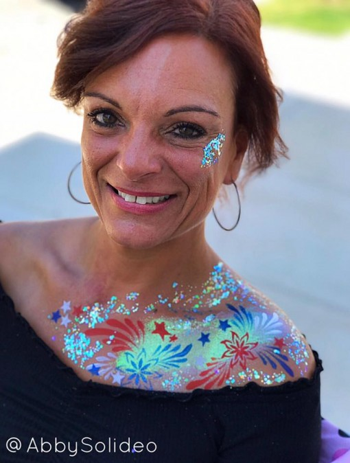 Abby Solideo knows that the more glitter you add the bigger the smile!