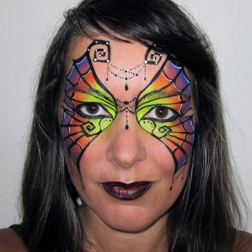 This spiderweb creation is gorgeous by Audrey Miché Maquilleuse