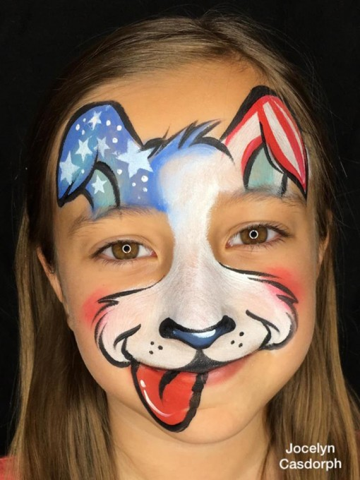 Patriotic Pup by our favorite painter Jocelyn Casdorph
