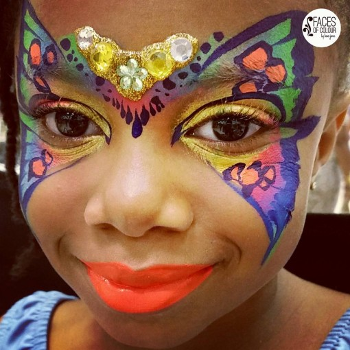 Everything about this butterfly is amazing!!!!!!! Lana from face of color just keeps raising the bar