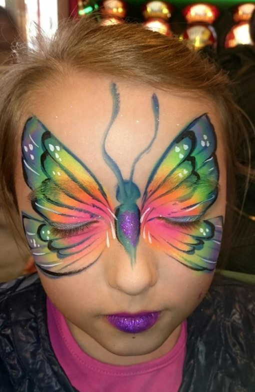 Who doesn't LOVE a rainbow gorgeous butterfly. We love this rendition by Mel Broom