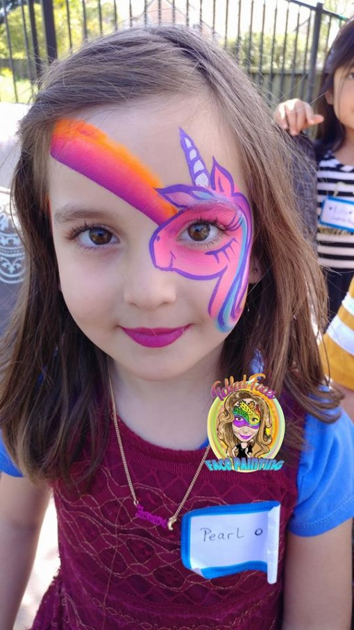 Loving this over the eye unicorn with a rainbow like a cherry on top by Rita Jaramillo