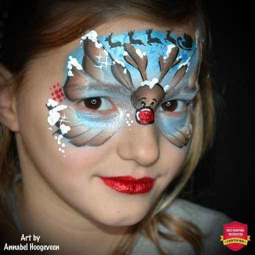 Butterflies are the most requested design and when you mix in a Holiday reindeer its a homerun!