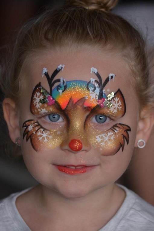 face painting as beautiful as her famous Funstrokes! Leanne Courtney puts a touch of magic to everything she paints